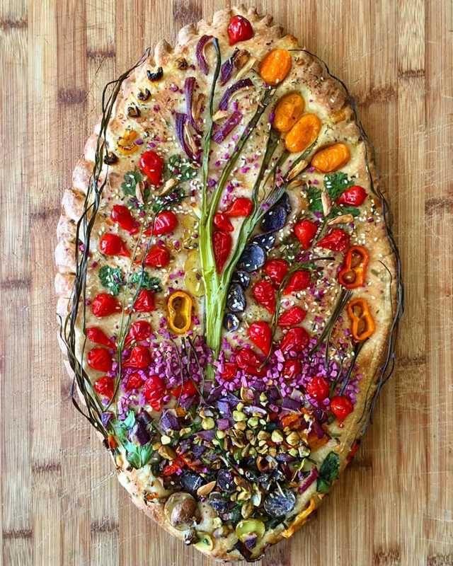 Flatbread Garden Scenes Imgur In 2020 Homemade Bread Food Focaccia