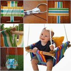 DIY Hammock-Type Baby Swing with instructions