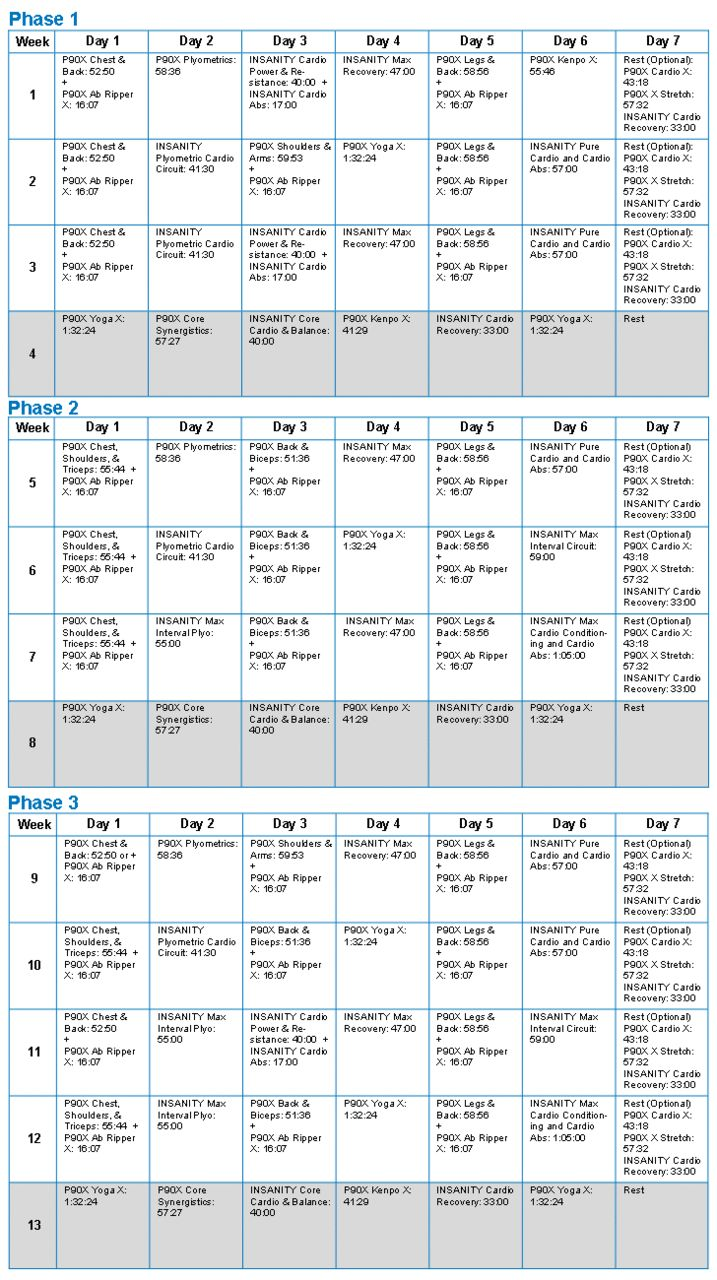 25 best ideas about p90x3 schedule on pinterest p90x3 calendar p90x workout and p90 workout