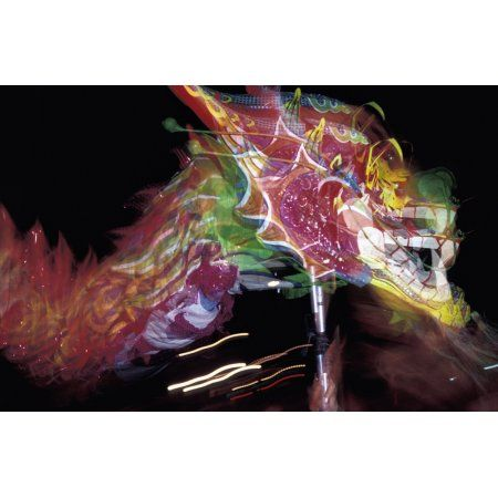 Dragon Dancing During Local Festival Canvas Art - Martin Stolworthy Design Pics (19 x 12)