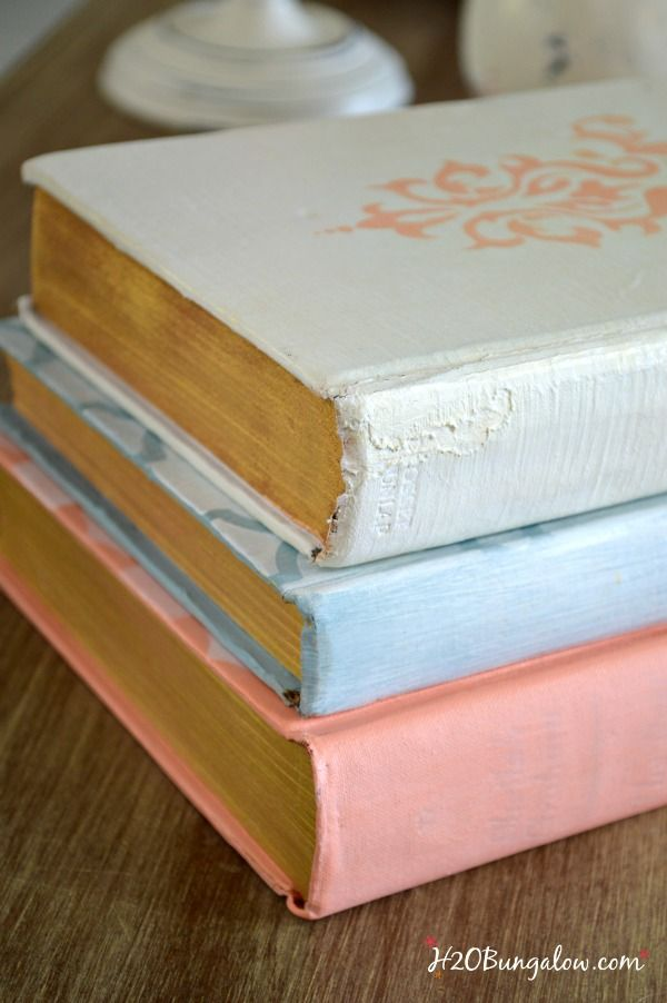 Painted-vintage-books-with-gold-trimed-page-H2OBungalow