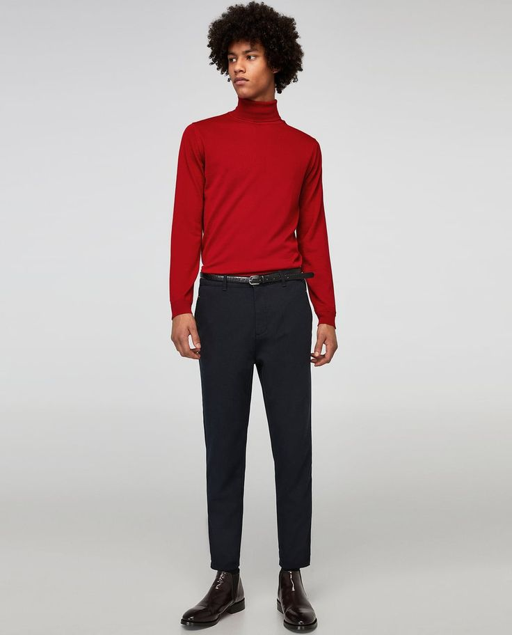DIAGONAL TEXTURED WEAVE TROUSERS - Available in more colours