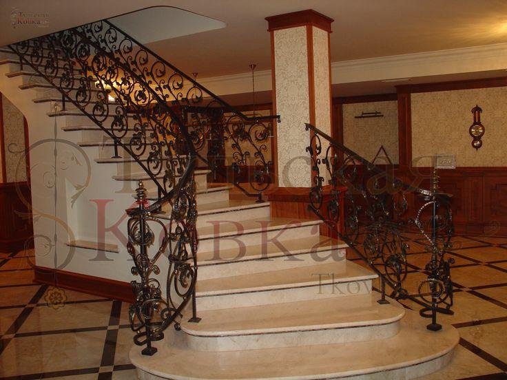 Кованые перила с применением технологии (wrought iron railings with the use of technology)