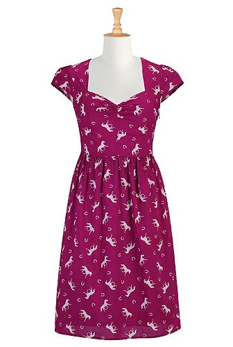 "Just ordered this dress from eShakti - ""galloping style""... super cute!Fashion Dresses, Eshakti Hors, Cotton Dresses, Style Cotton, Galloping Style, Custom Clothing, Design Fashion, Shops Women, Women Design"
