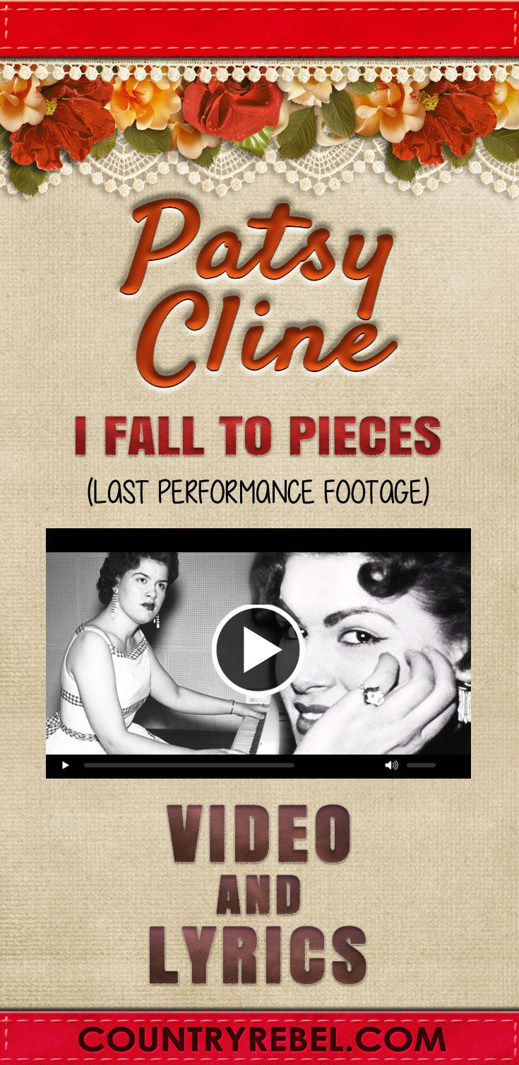 Country Music Songs - Artists - Last Footage of Patsy Cline Performing I Fall To Pieces