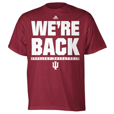 Indiana Hoosiers Cardinal Adidas Quot We Re Back Quot Basketball