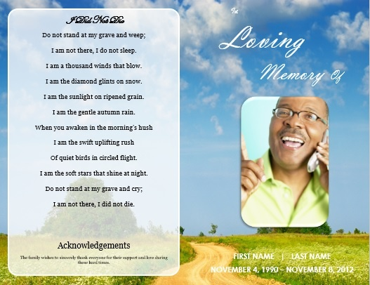 funeral service bulletin template diy printable funeral memorial program card diy funeral memorial brochure