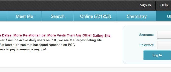POF online dating logga in