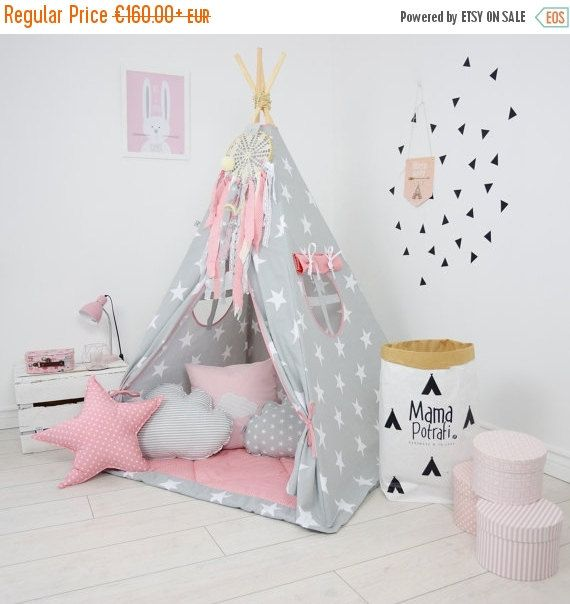 Teepee Set Kids Play Teepee Tent Tipi Kid Playhouse Wigwam Zelt