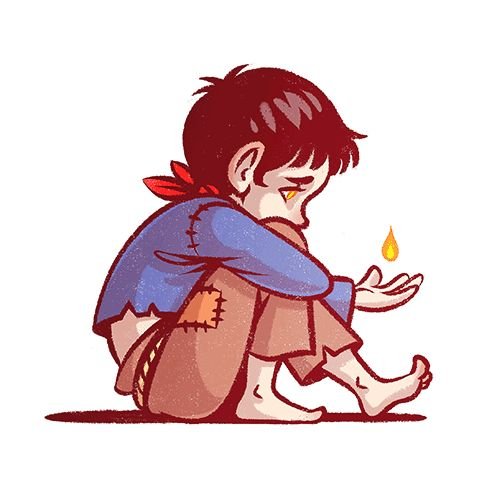 """Merlin fan art by WHIMSYCATCHING // """"I'm not a monster, am I?"""" """"So here we have a wee and woebegone warlock. I wanted to draw kid!Merlin again since lots of you seemed to enjoy my last one (Thank you!!) though this one's on the much more angsty side… He definitely deserves all the """"AWWW""""s!"""""""