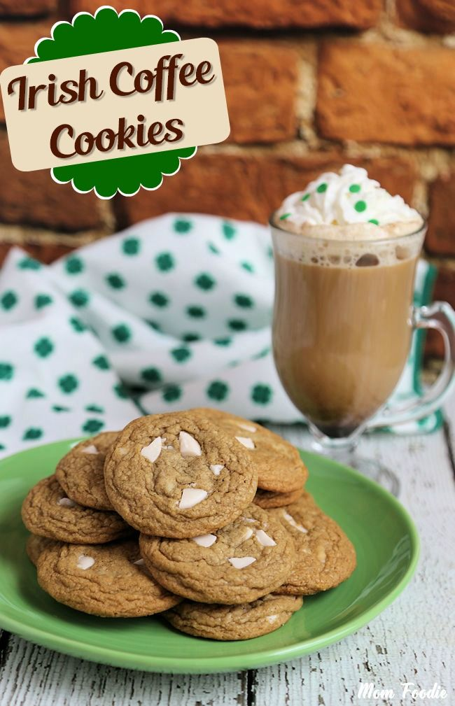 Irish Coffee Cookie to go with your Irish coffee...........