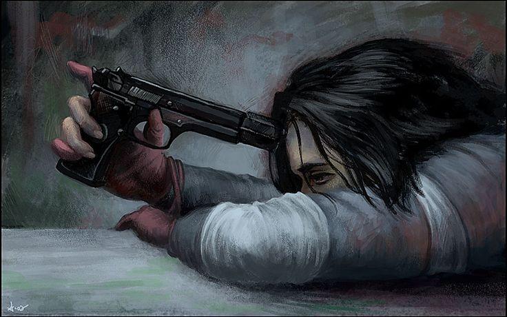 #guns, #sad, #artwork | Wallpaper No. 93530 - wallhaven.cc
