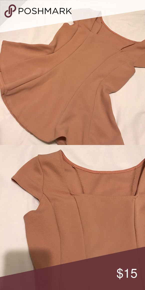 Blush pink peplum top Blush pink peplum top. Bought at boutique. Fits like a medium unbranded. Not FP Free People Tops