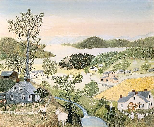 A Beautiful World, 1948, Grandma Moses
