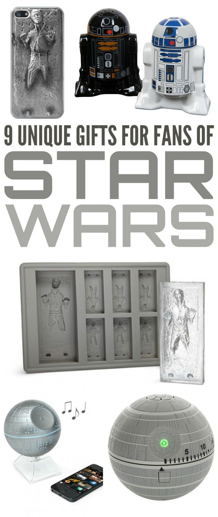 Check out this curated collection of some of the most unique gifts for fans of Star Wars you can find to help you start shopping for the perfect gift for the ultimate Star Wars fan in your life.