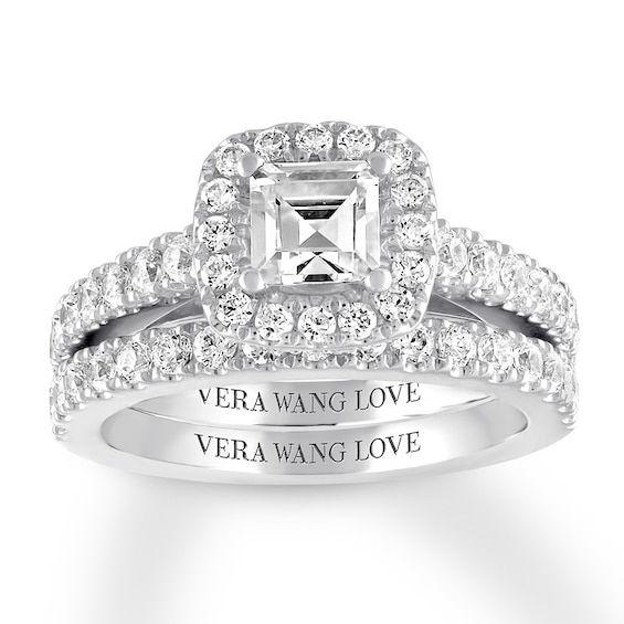 Vera Wang Love 2 Ct Tw Diamonds 14k White Gold Bridal Set In 2020 Bridesmaid Jewelry Sets Wedding Rings Vintage Beautiful Wedding Rings