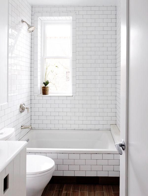 Bathroom Subway Tile Dark Grout 49 best łazienka images on pinterest | home, room and bathroom ideas