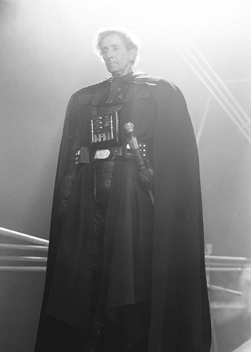 The legendary sword master Bob Anderson (1922-2012), the man inside the Darth Vader armor in Empire and Jedi.