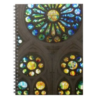 Church Cathedral Christ Wall Stained Glass Deco 99 Spiral Note Books