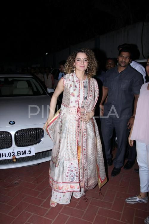 Kangana Ranaut looks bright and beautiful in her traditional look for Customs Day
