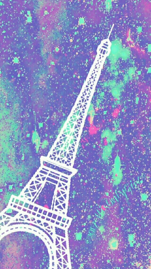 Leaning Eiffel Tower iPhone/Android galaxy wallpaper I created for the app CocoPPa!!
