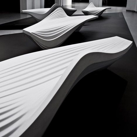 Serac Bench by Zaha Hadid for Lab23