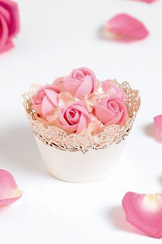 PrettyPink Cupcakes Recipe, Cupcakes Decor, Wedding Cupcakes, Flower Cupcakes, Cups Cake, Rose Cupcakes, Pink Rose, Fairies Cupcakes, Cupcakes Rosa-Choqu