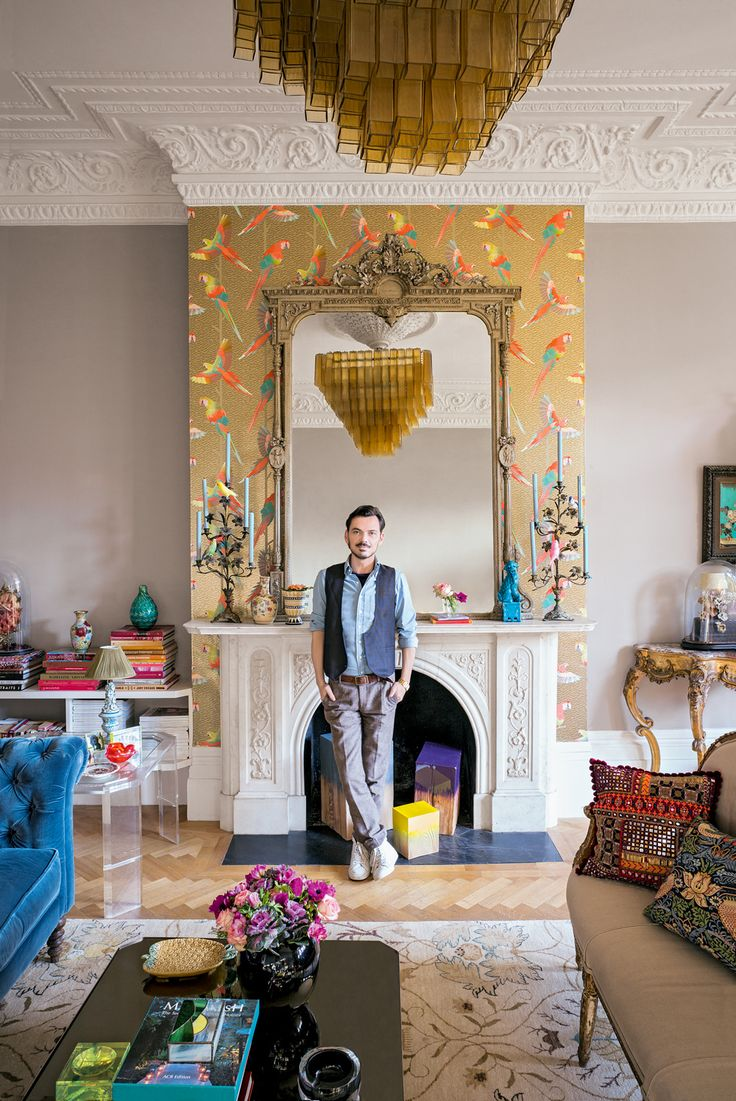 Matthew Williamson's home features in this month's Living Etc magazine with a full article entitled 'bohemian rhapsody'. The parrot wallpaper featured behind the mirror above the fireplace gives this room an exotic interior touch. Click to read more.