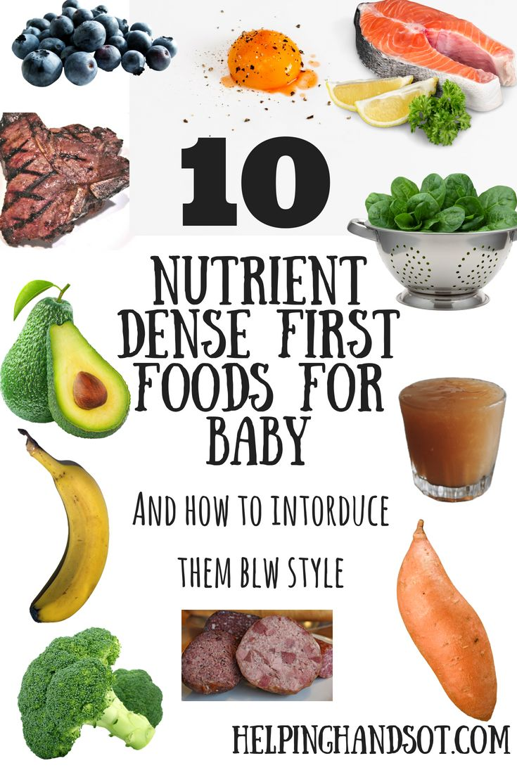 10 Nutrient Dense First Foods for Baby (BLW Style) Plus