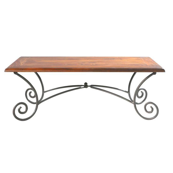 Les 25 meilleures id es concernant table basse fer forg sur pinterest mais - Table basse carree bois et fer forge ...