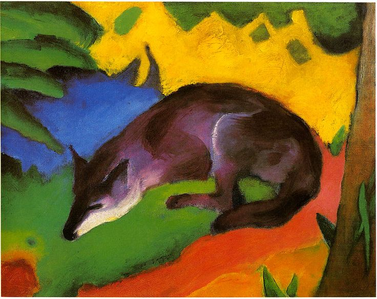 Marc-blue-black fox - Franz Marc - Wikipedia, the free encyclopedia