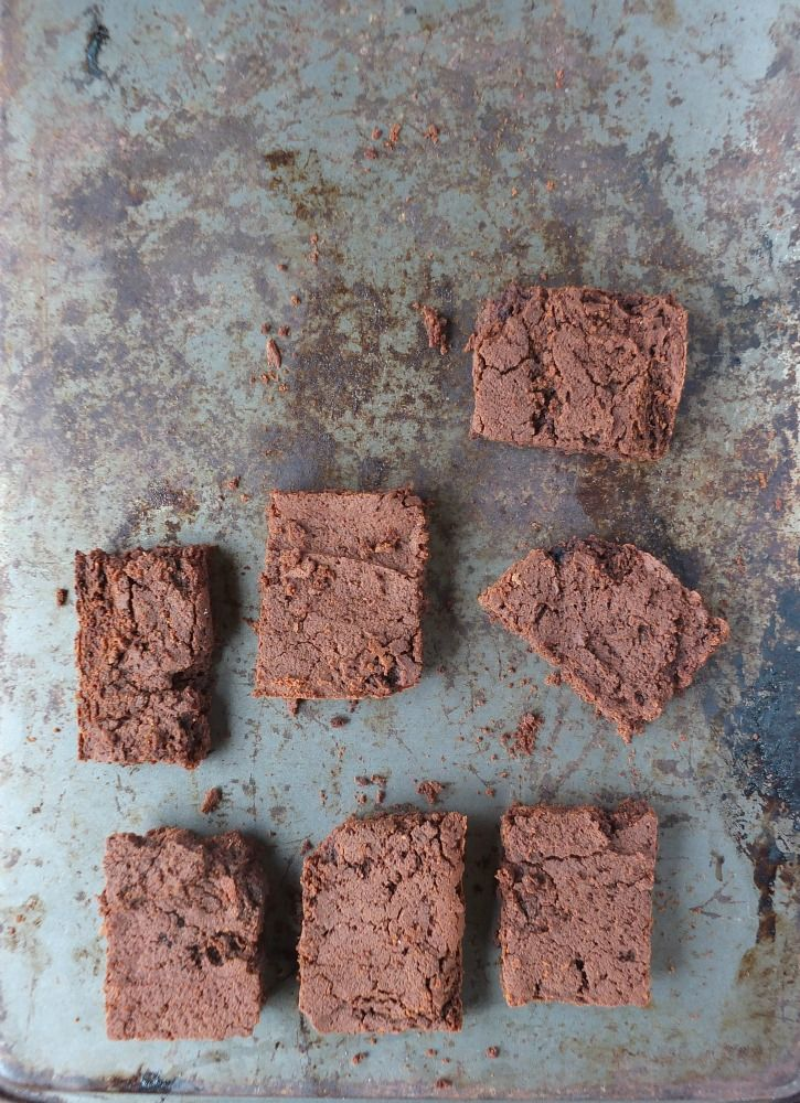 Banana Flour Brownies (paleo, nut-free, vegan):