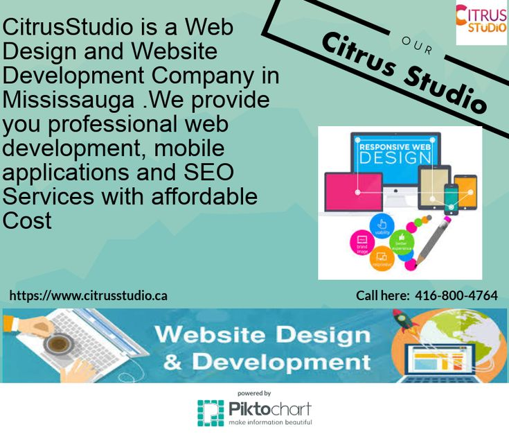 You want to get web design services in Mississauga with reasonable cost.Citrusstudio  helps to choices best way to grow your business and build you connection in Mississauga. Our professional perfect in seo,webdesign,web development, ecommerce website,Google Adwords, CMS web development, Mobile app.Please call us to enjoy our services:416-800-4764 and visit online:  https://www.citrusstudio.ca