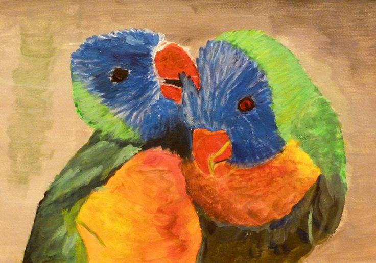 Az áprilisi festő tanfolyamon készültek! Vááóóó!:o)