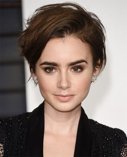 I like it's tousled-ness. Requires wavy hair but you probably want the layers in the front longer
