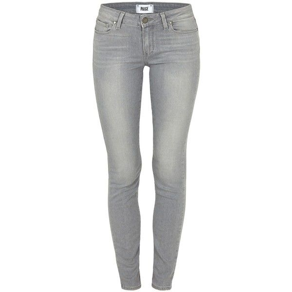 PAIGE Verdugo Dove Grey Jean ($330) ❤ liked on Polyvore featuring jeans, pants, dovegrey, grey skinny jeans, super stretchy skinny jeans, stretch skinny jeans, paige denim and gray jeans