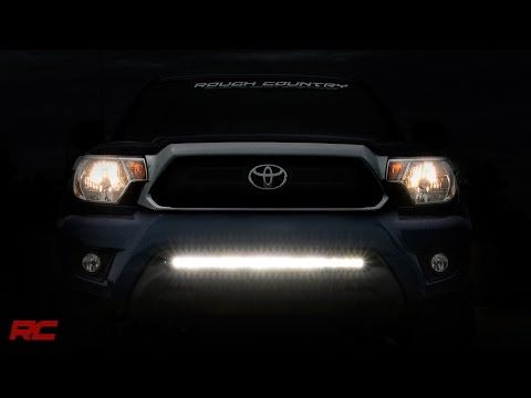 30in LED Light Bar Hidden Bumper Mounting Brackets for 2005-2015 Toyota Tacoma [70542] | Rough Country Suspension Systems®