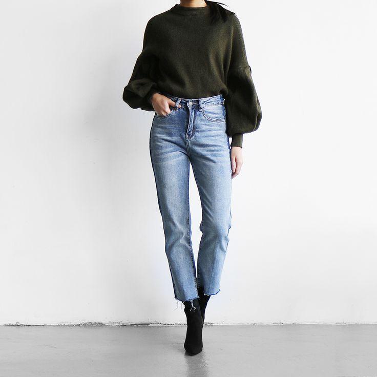 Прямые джинсы с высокой талией и контрастными лампасами Cobalt Denim в магазине «DENIMES   COBALT» на Ламбада-маркете