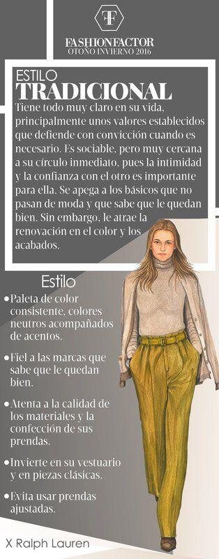 La mujer Tradicional es de estilo conservador y familiar, se apega a los clásicos. Aprende como llevar este estilo en Fashion Factor.