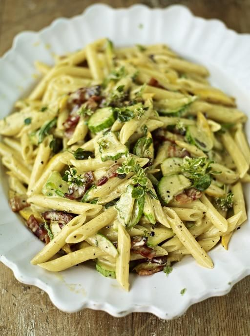 Courgette Carbonara | Pasta Recipes | Jamie Oliver Recipes (Jamie Oliver Recipes)