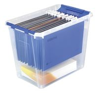 Sistema Opbergbox voor hangmappen transparant/blauw 40 l