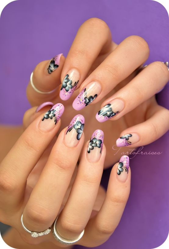 Nail art Balcon Fleuri | Tartofraises