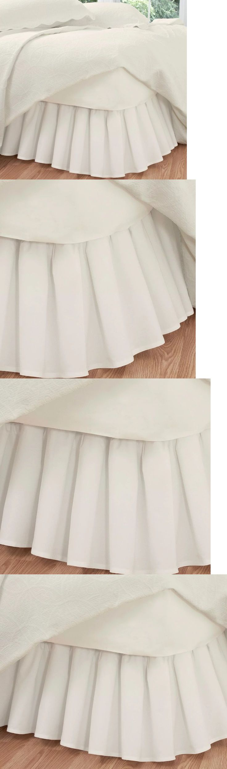 Bed Skirts 20450: Ruffled Ivory Bed Skirt Cal King Size Poplin 14 Inch Drop Cotton Polyester -> BUY IT NOW ONLY: $42.65 on eBay!