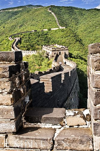 The Great Wall of China at Mutianyu, Beijing. One of the most impressive places I've ever seen.