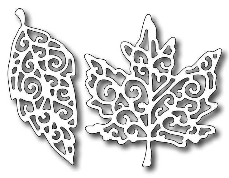 Frantic Stamper Precision Die - Fancy Leaves,$9.99