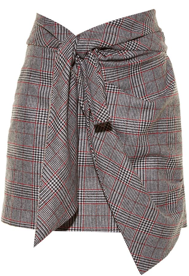 14d94eec4eef Shop for Kim knot-front Prince of Wales-checked skirt by Isabel Marant at  ShopStyle. Now for Sold Out.