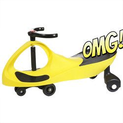 The Yellow Wiggle Racer* ride-on car doesn't require an expensive power source that needs constant replacement. No batteries! No power-cells! No liquid fuel! It provides kids with plenty of exercise, more so than most toys. All it needs to operate is a driver and a smooth, flat surface.