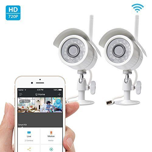 #3: Zmodo 720p HD Outdoor IP Camera Home Wireless Security Camera System (2 Pack) Zmodo Outdoor Camera Wireless Security is a top pick of a deal among the top selling products online in Photo  category in USA. Click below to see its Availability and Price in YOUR country.