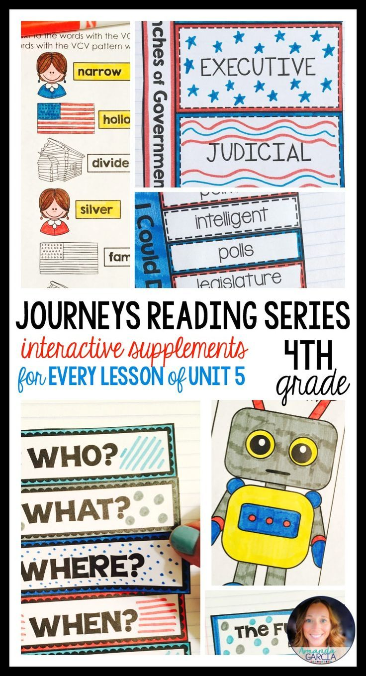 Students LOVE these FUN interactive notebook supplements and printable worksheets! This unit is aligned to the Journeys reading series, Unit 5, for fourth grade. Stories are: The World According to Humphrey, I Could Do That!, The Ever-Living Tree, Owen and Mzee, and The Fun They Had.