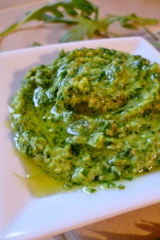 Pesto de roquette   Roquette Rollmops